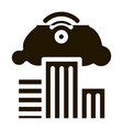 smart city ecology icon glyph vector image vector image