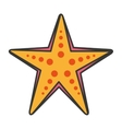 starfish sea cute icon vector image