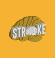 stroke logo icon design medical vector image vector image