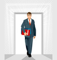 successful smiling businessman vector image