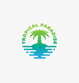 tropical paradise logo vector image