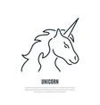 unicorn line icon magic animal symbol liner vector image
