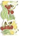 Vegetable polka dot seamless pattern vector image vector image