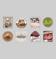 vintage american badge absinthe tequila vodka vector image vector image