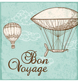 Vintage background with air balloons vector image vector image