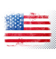 vintage grunge texture flag usa vector image vector image