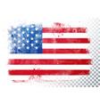 vintage grunge texture flag usa vector image