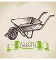 Vintage sketch gardening background vector image