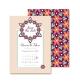 Wedding invitations floral card in vector image