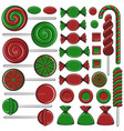 with christmas and green sweets vector image vector image