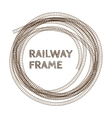 Round rough railway frame vector image
