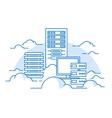 Cloud service database vector image