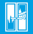 window cleaning icon white vector image