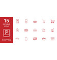 15 shopping icons vector image vector image