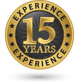 15 years experience gold label