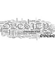a look at obesity text word cloud concept vector image vector image