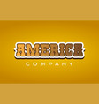 america western style word text logo design icon vector image