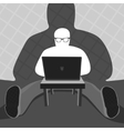 Anonymous User and Computer vector image vector image