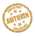 autumn collection rubber stamp season discount vector image vector image