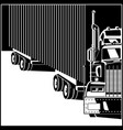 big truck with trailer vector image vector image