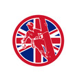 british linesman union jack flag icon vector image vector image