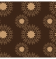 Brown Stylized flowers seamless abstract vector image vector image