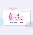 business goals achievement website landing page vector image vector image