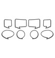 bw speech bubbles vector image vector image