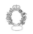 celtic belt with rose and thistle drawing vector image