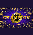 champ congratulations vintage frame vector image vector image