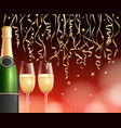 champagne and confetti background vector image vector image
