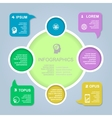 circle color infographic template vector image vector image