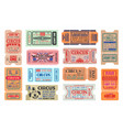 circus carnival amusement show tickets vector image vector image