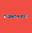congrats concept word art vector image vector image