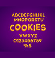 cookies alphabet set vector image