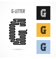 Creative G - letter icon abstract logo design vector image vector image