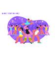 dance performance flat composition vector image