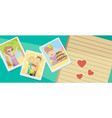 family photos best moments on pictures portraits vector image