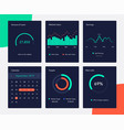 financial and marketing data charts network vector image vector image
