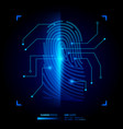 finger print verification vector image vector image
