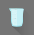 flat style measures glass icon vector image vector image