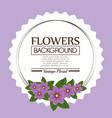 floral background decorative frame vector image vector image