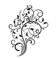 floral decorative ornament flower branch vector image vector image
