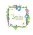 Floral spring banner vector image vector image