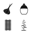 garlic vessel and other web icon in black style vector image vector image