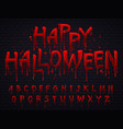 halloween font horror alphabet letters written vector image