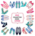 hand drawn fashion Spring summer collection vector image vector image