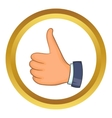 Hand with thumb up icon vector image vector image