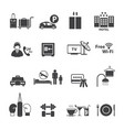 hotel icons set vector image vector image