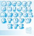 ice font vector image vector image